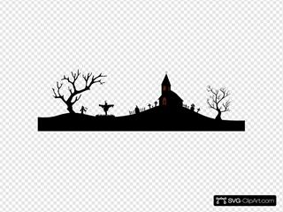 Halloween Scene Black
