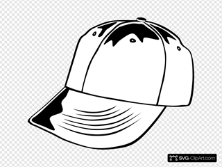 Baseball Cap (b And W)