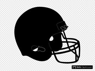 Blk Football Helmet