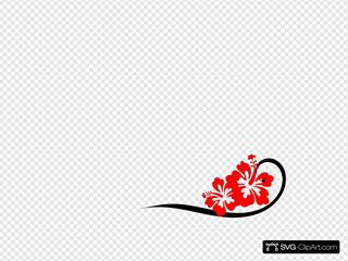 Black Swirl, Bright Hibiscus