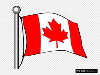 Canada Flag Flying