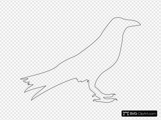 Crow Outline SVG Clipart