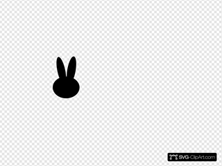 Black Bunny Head