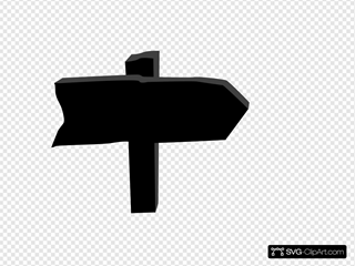 Black Road Sign SVG Clipart