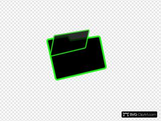 Green And Black Folder