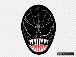 Black Spider Man Face