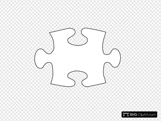 Jigsaw White Puzzle Piece No Shadow