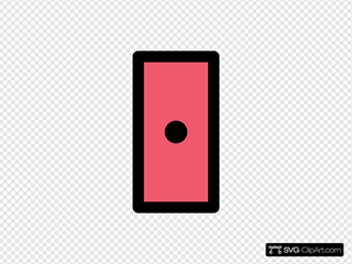 Red Rectangle With Dot