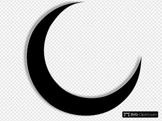 Crescent Moon Black
