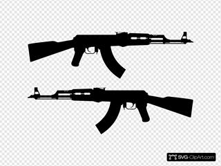 Ak Rifle Silhouette