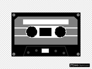 Grey And Black Cassette