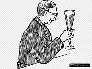 Man With Lager Glass