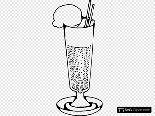 Ice Cream Soda Clipart
