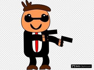 Spy In Black Suit