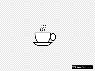 Black And White Coffee SVG Clipart