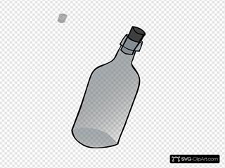 Glass Bottle Black And White