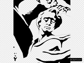 Fryderyk Chopin Portrait SVG Clipart