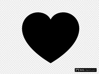 Solid Black Heart