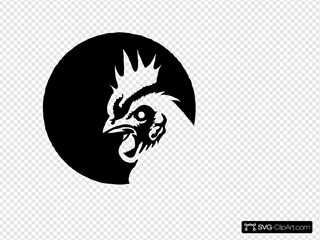 Black & White Chicken Profile No Eyeball