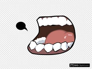 Mouth With Speech Bubble