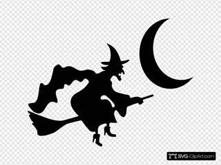 Witch Moon Silhouette