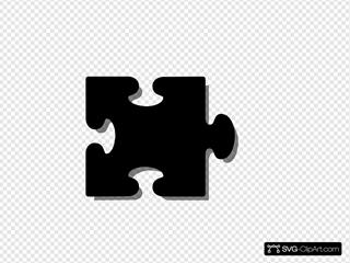 Puzzle Piece Black