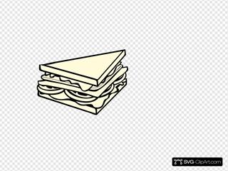 Sandwich Half B&w