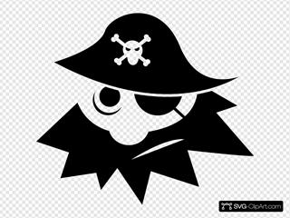 Black And White Pirate
