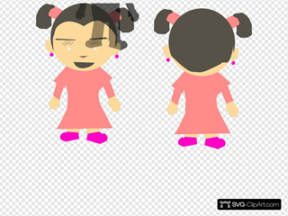 Little Kid Girl Cartoon