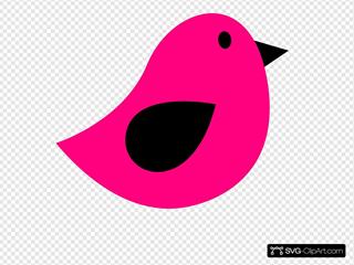Black & Pink Birdie