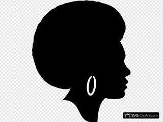 Black Female Afro Silhouette