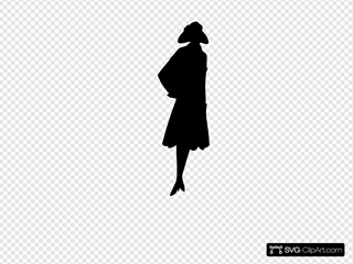 Standing Lady Silhouette