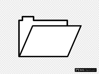 Folder Open SVG Clipart