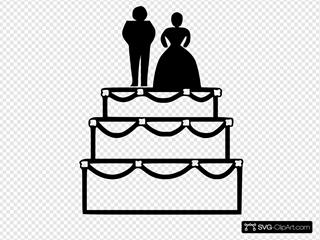 Wedding Cake Black Simple