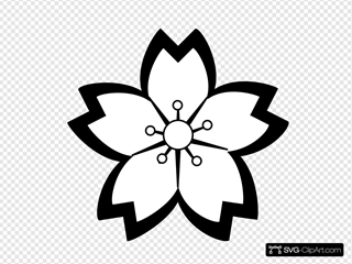 Mod Flower Blossom SVG Clipart