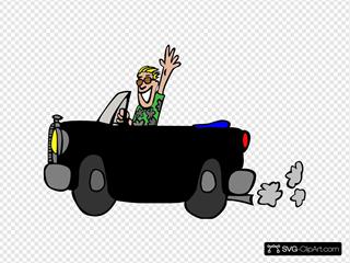 Black Car/man Clipart