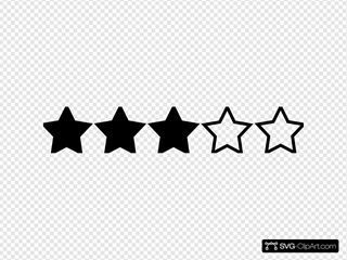 Three Star Rating Black