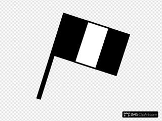 Black And White Flag Of France
