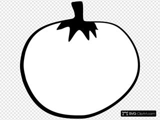 Tomato Line Art