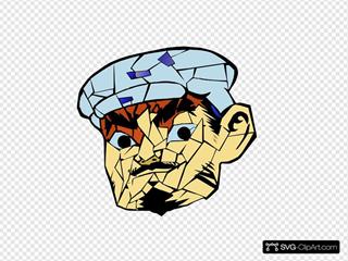 Head 6 SVG Clipart