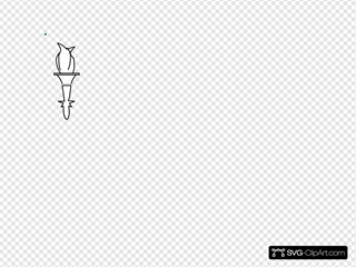 Torch B+w SVG Cliparts
