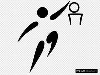 Olympic Sports Basketball Pictogram