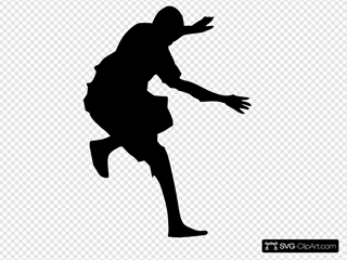 Man Jumping Silhouette