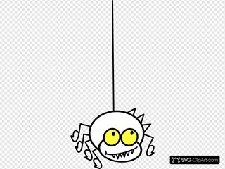 Hanging Spider Cartoon