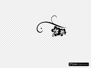 Hibiscus Swirl SVG Cliparts