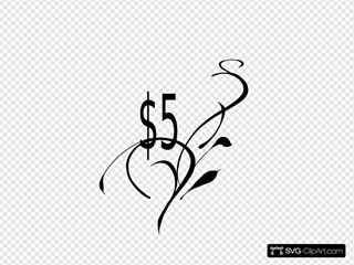 $5  Tag Clip art, Icon and SVG - SVG Clipart