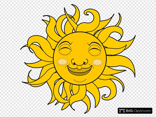 Smiling Sun Clip art, Icon and SVG - SVG Clipart