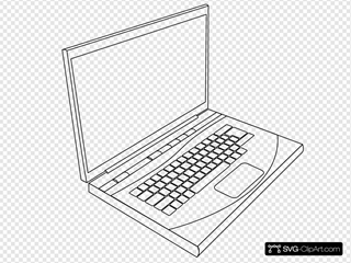Aurium Laptop In Line Art
