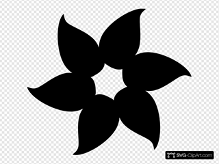 Solid Black Flower
