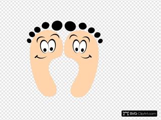 Purple Happy Feet